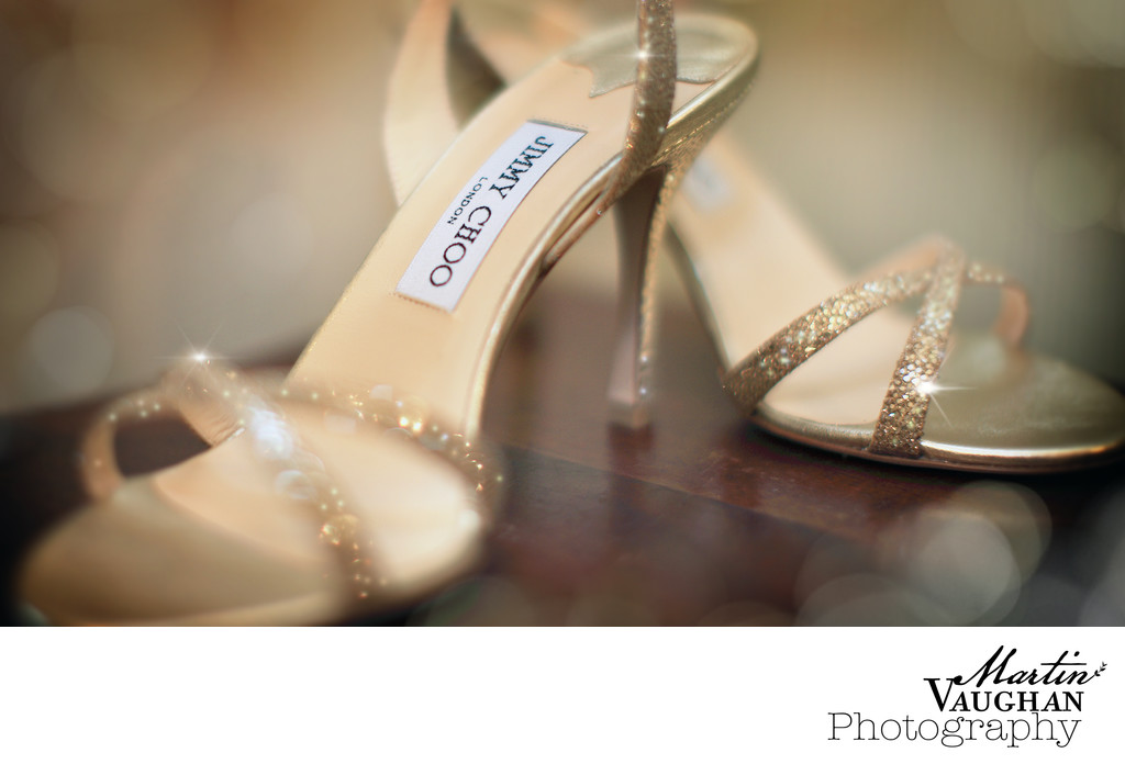 Wedding shoes photography Jimmy Choos North Wales