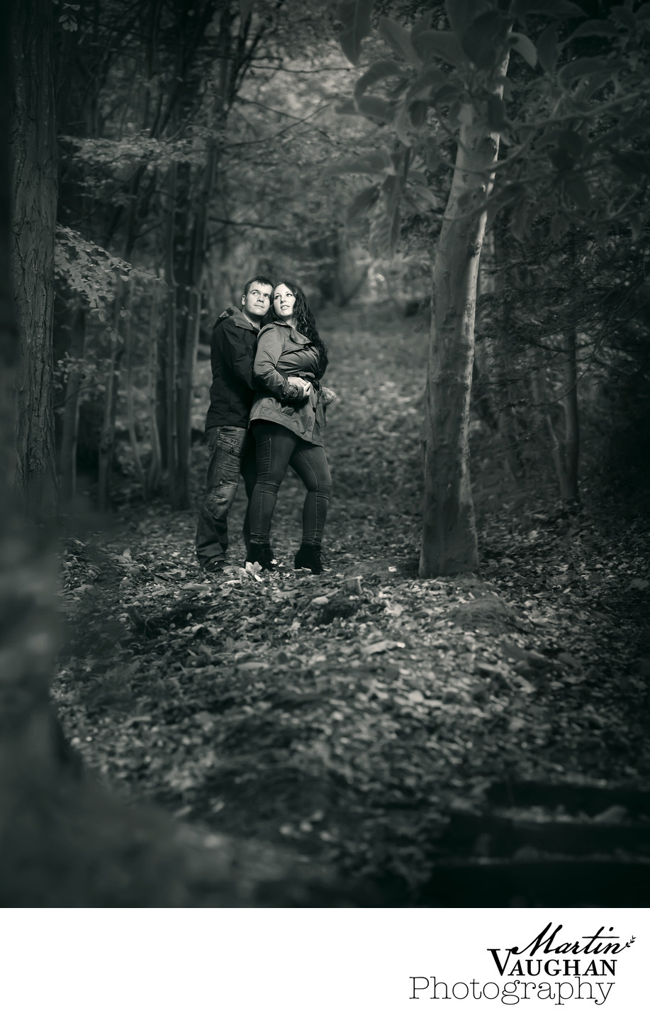 Engagement shoot by Martin Vaughan in Pwllycrochan