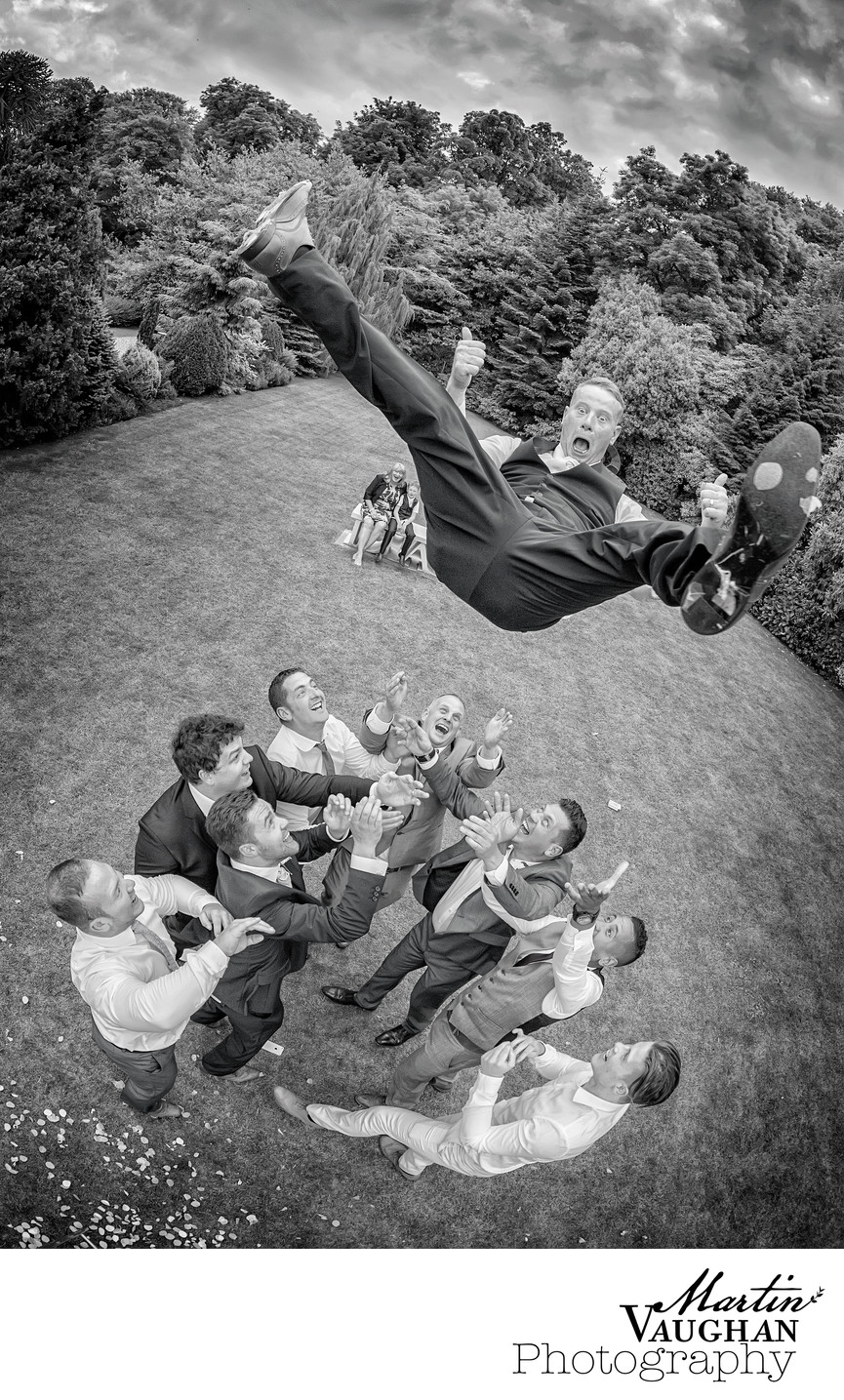 Fun wedding photography tre ysgawen Anglesey