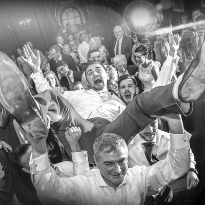 Top party wedding photography Portmeirion hercules Hall
