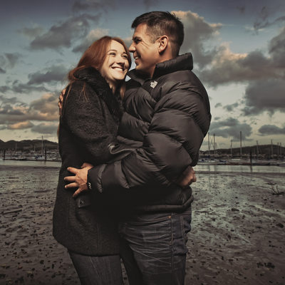 Top wedding photographer in Conwy engagement shoot