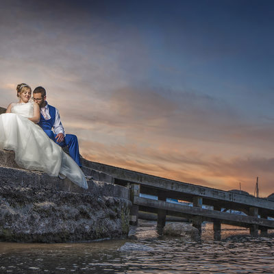 Best wedding photos in Conwy North Wales the Quay