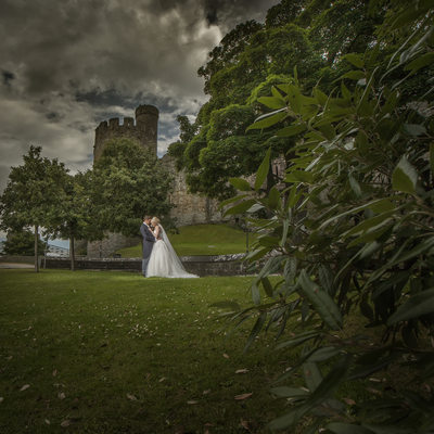 Conwy Castle wedding photographs North Wales