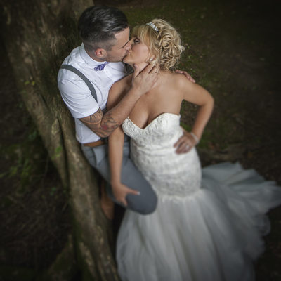 Romantic wedding photography North Wales
