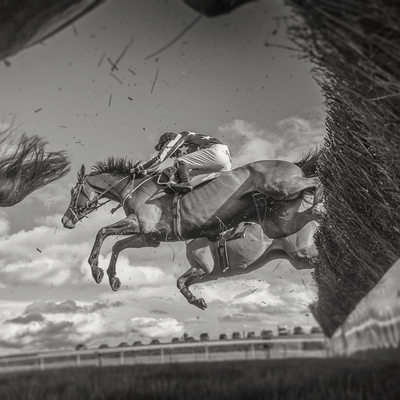 Photography of the racing at Bangor on Dee Wrexham