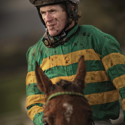 Photographs of A P McCoy at Bangor on Dee