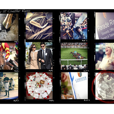 Montage photograph of race day chester races
