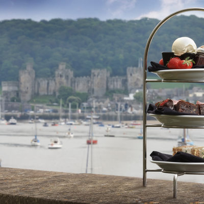 Quay Hotel and Spa afternoon tea and castle images
