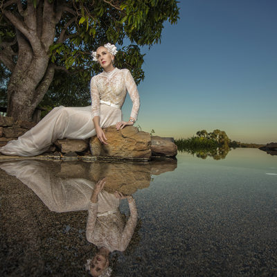 Beautiful mermaid bride Martinvaughanphotography