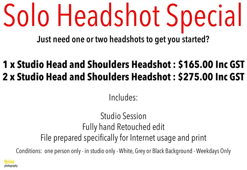 Sunshine Coast Headshot Photographer Price