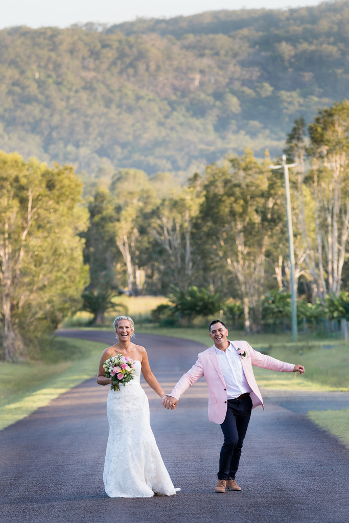 Noosa Hinterland Wedding Photo of the Bride and Groom