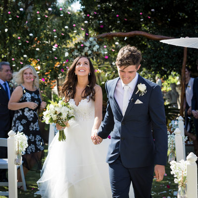 Gorgeous Confetti Exit at a Sunshine Coast Garden Wedding
