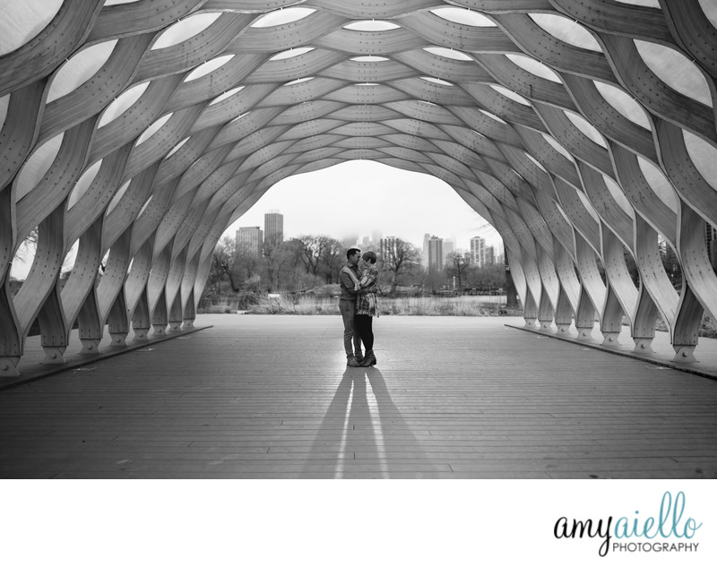 chicago lincoln park lily caldwell nature walk zoo engagement session