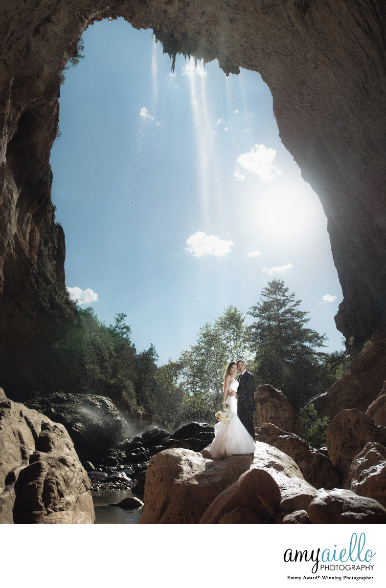 tonto bridge wedding photography payson arizona waterfall destination wedding photographer