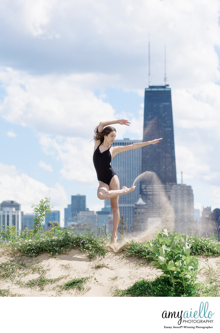 Chicago Dance Photographer Editorial Fashion Style Ballerina