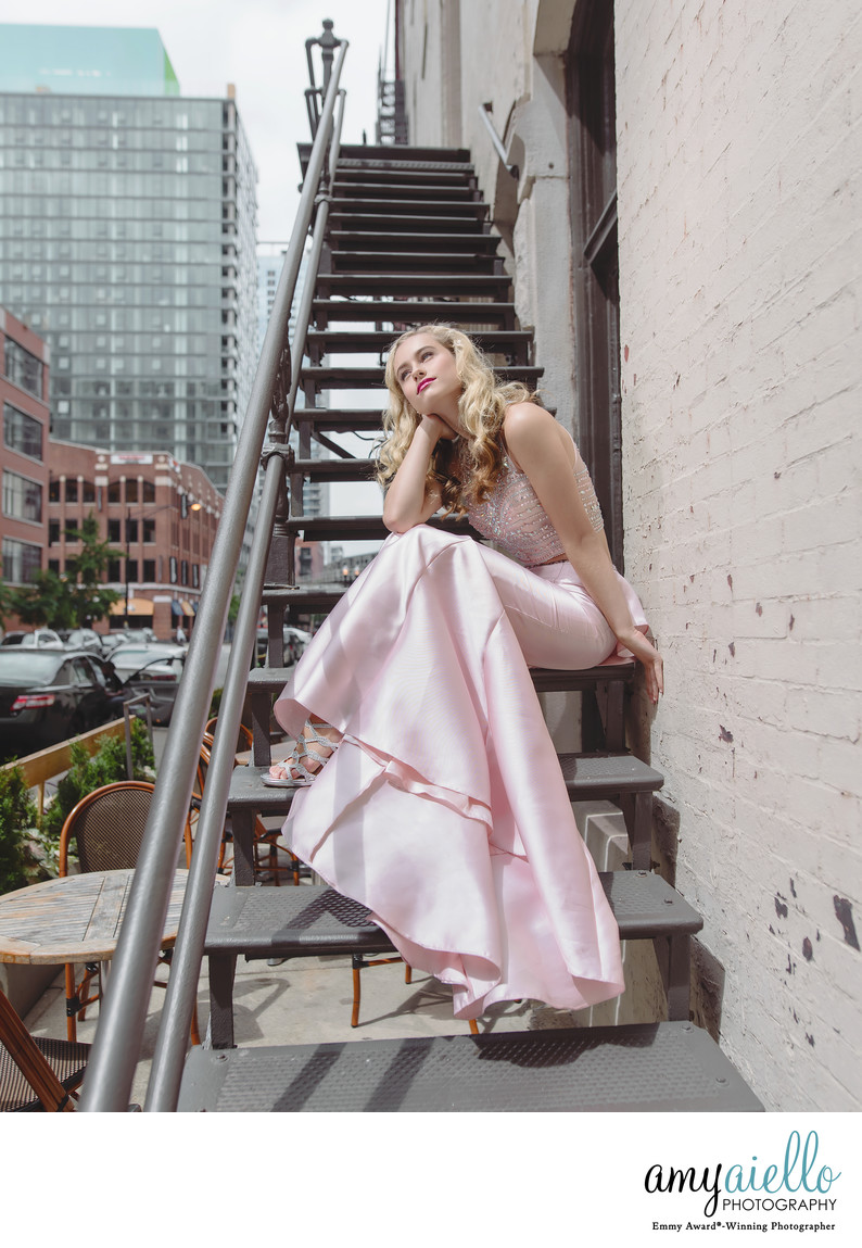 chicago high school senior photoshoot fashion editorial inspired