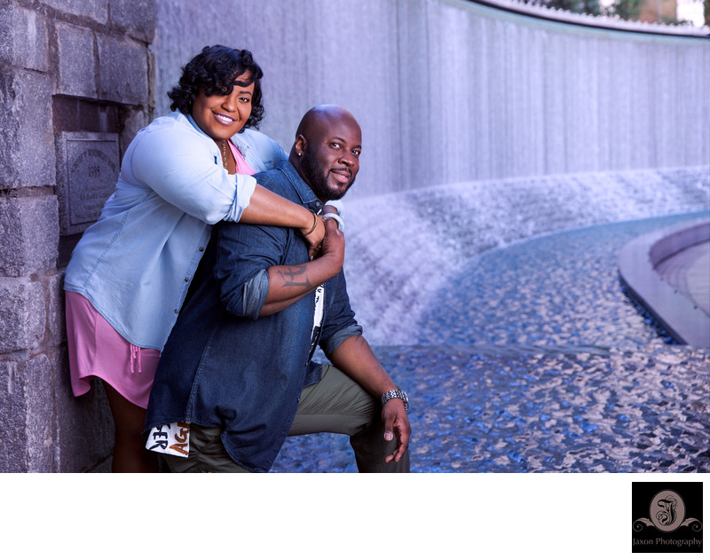 Woodruff Park Fountain Engagement