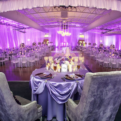 Gymnasium transformed into elegant ballroom