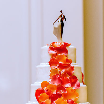 African American art-themed cake topper