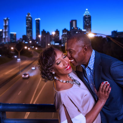Jackson Street Bridge Engagement Photography