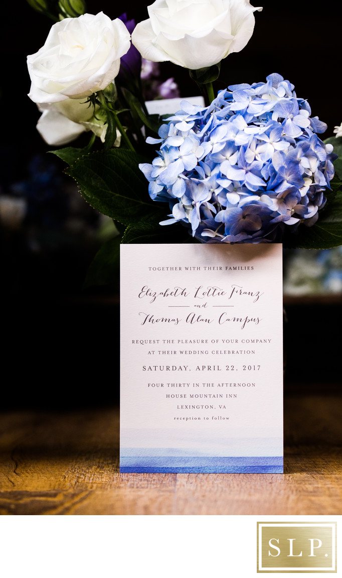 House Mountain Inn Wedding Invitation
