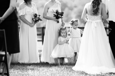 Flower Girls at Wedding