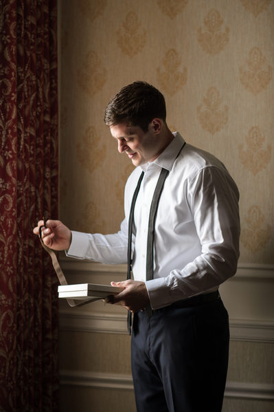 Groom Prep at The Jefferson Hotel