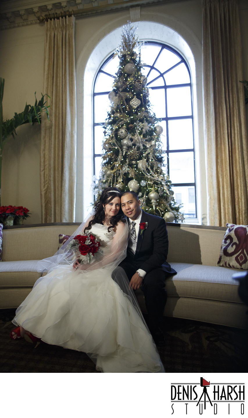 Peoria Photographers Wedding Pere Marquette Christmas Tree