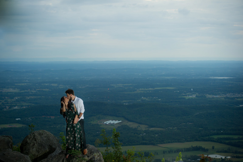 Fort Mountain Overlook Engagement Photo