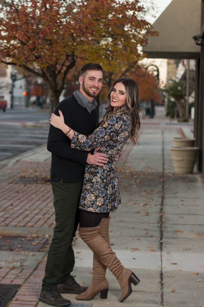 Downtown Dalton Engagement Photographer