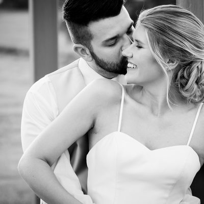 Tennessee Riverplace Wedding Bride and Groom Kiss