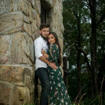 Fort Mountain Fire Tower Engagement Photo