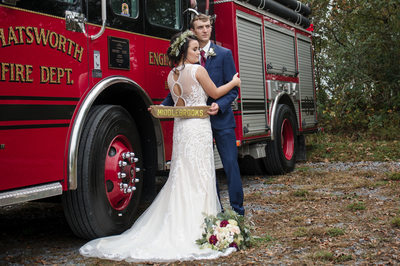 Chatsworth Wedding Of A Firefighter