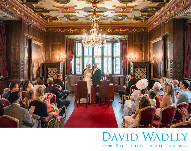 Wedding day in the Great Chamber New Hall Hotel