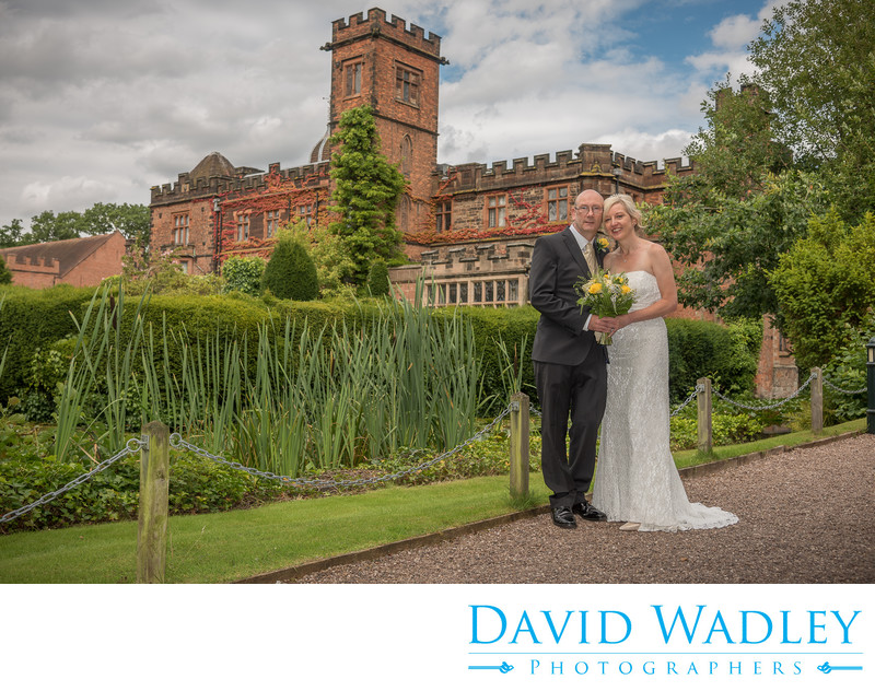 Wedding photography in the gardens at New Hall Hotel in Sutton Coldfield.