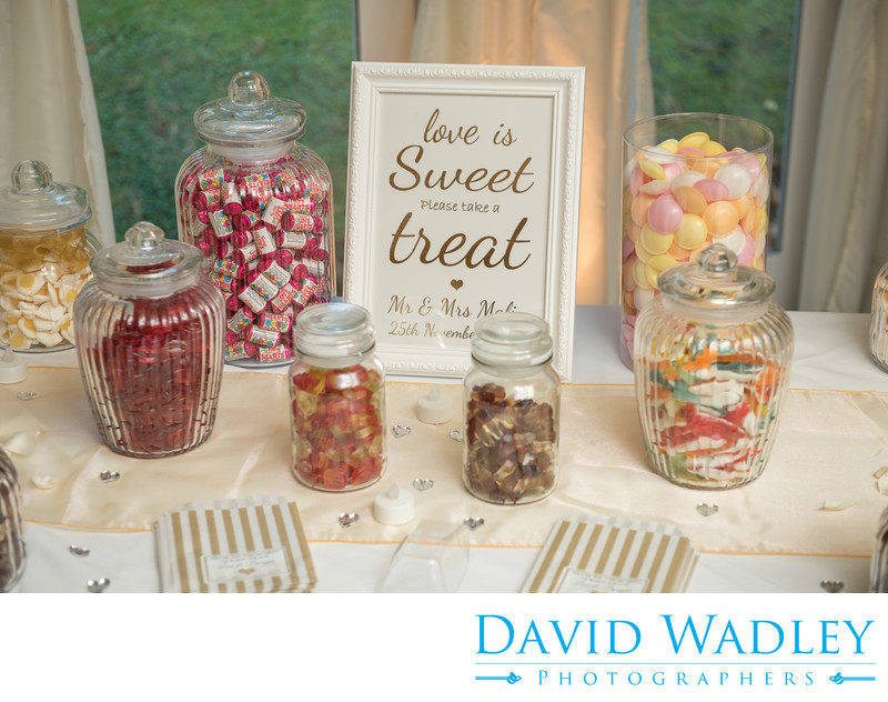 Sweets photographed at New Hall Hotel Great Chamber in Sutton Coldfield.