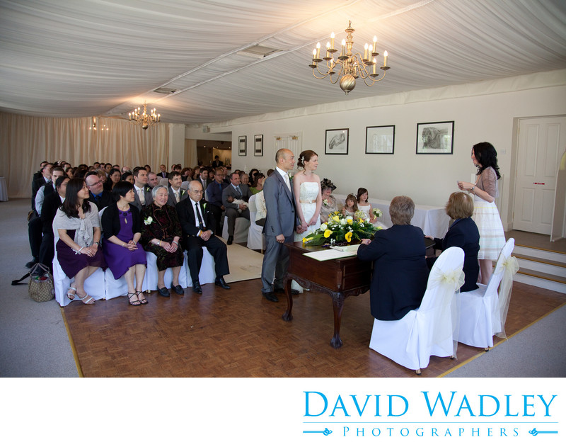 Reading at wedding taken at Warwick House