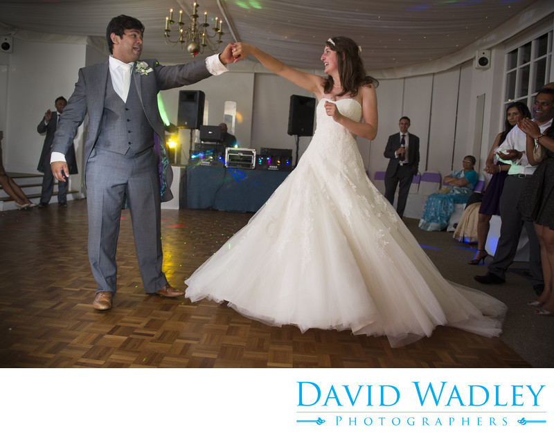 First dance for the Bride & Groom at Warwick House Southam.