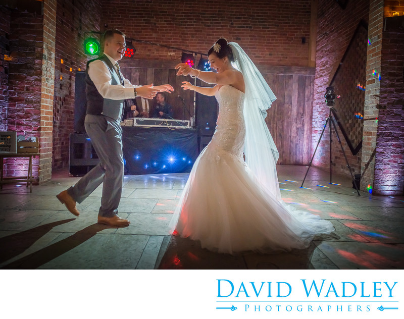 Shustoke Barns first dance for Bride & Groom on their Wedding day.