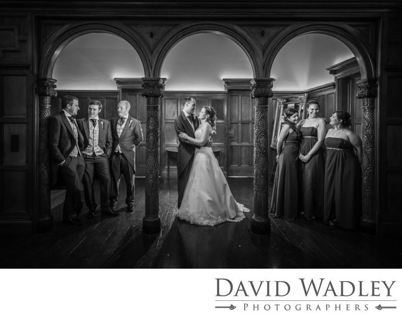 Bridal Party at Pendrell Hall on their Wedding day.