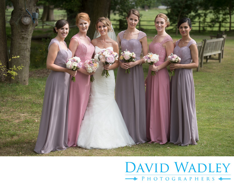 Bride & Bridesmaids at Nailcote Hall.