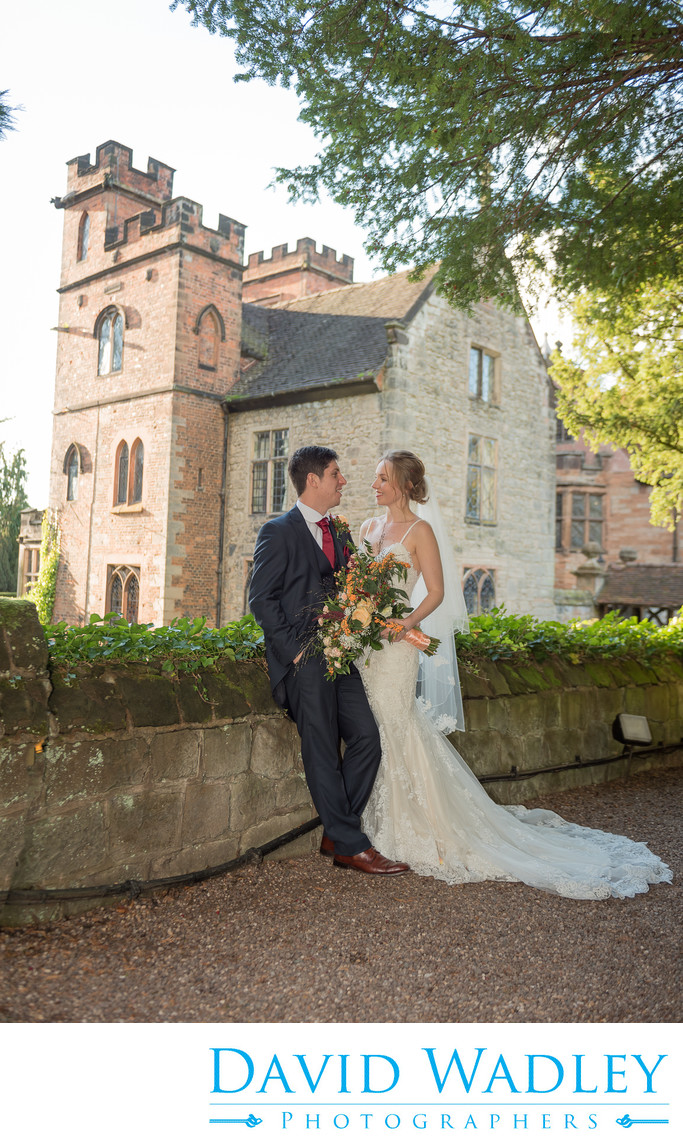 Wedding Couple photographed at beautiful New Hall Hotel in Sutton Coldfield.