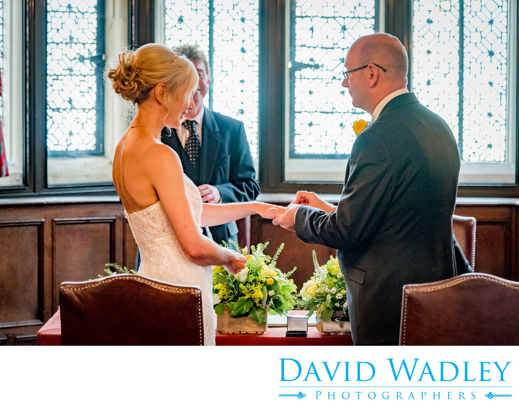 Wedding ceremony photographed at New Hall Hotel in Sutton Coldfield.