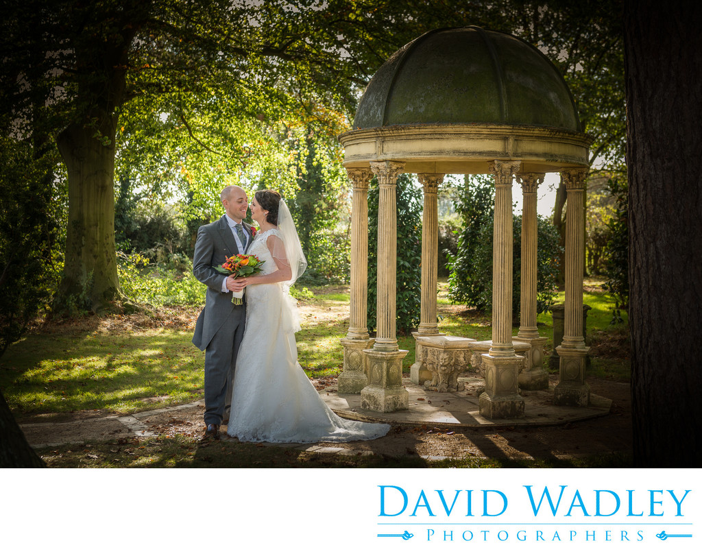 Beautiful gardens photographed on the wedding day at Moxhull Hall Hotel.