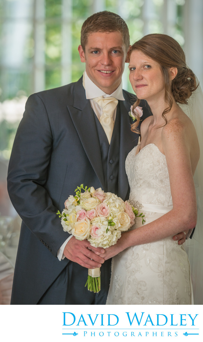 Bride & Groom together at Warwick House.