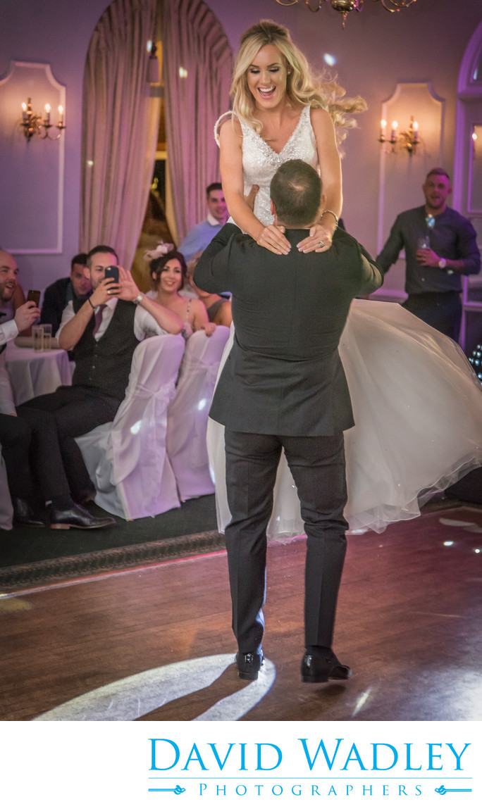 Bride & Groom wedding first dance at Moor Hall Hotel.