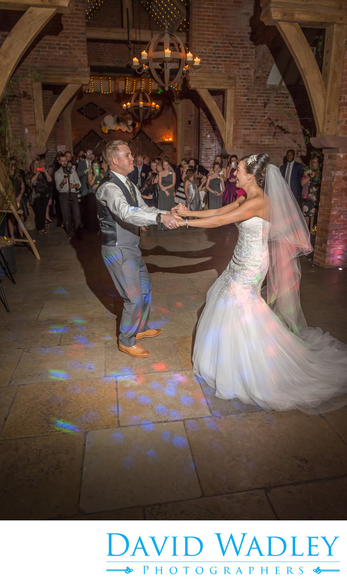 Dancing the wedding night away at Shustoke Barns Coleshill Birmingham.