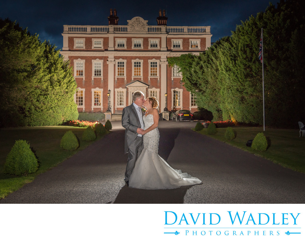 Swinfen Hall Evening photography on their wedding day.