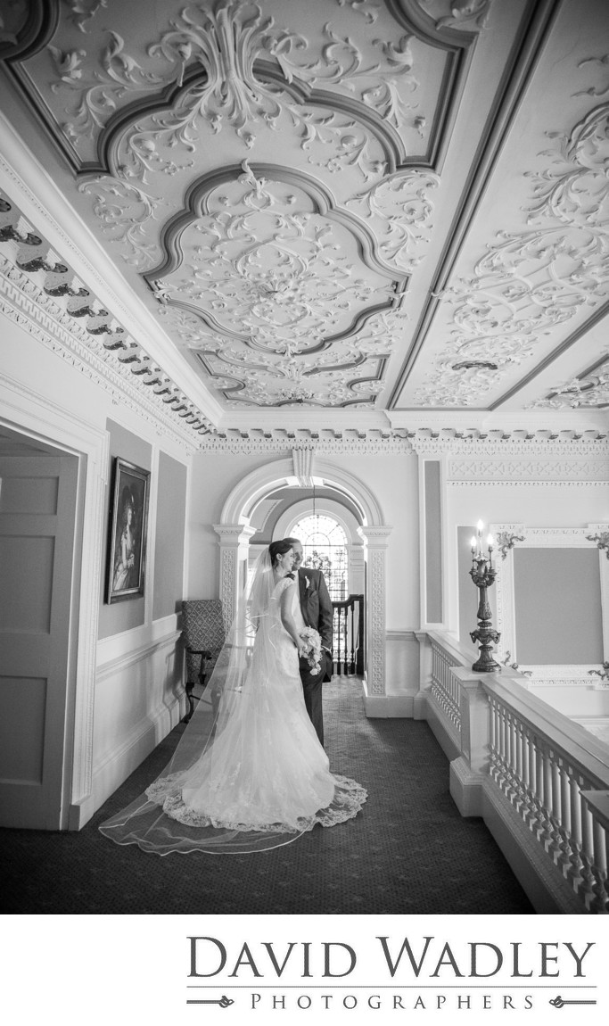 Inside Swinfen Hall Hotel on their Wedding.