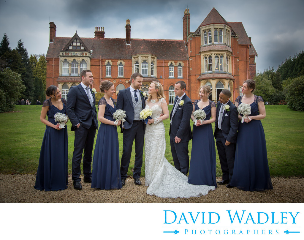 Wedding Bridal Party at Highbury Hall Birmingham.